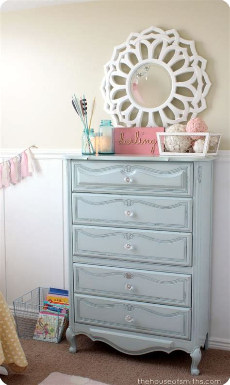 Shabby Chic Blue Dresser by Girly Room Makeover Reved Light Blue Shabby Chic