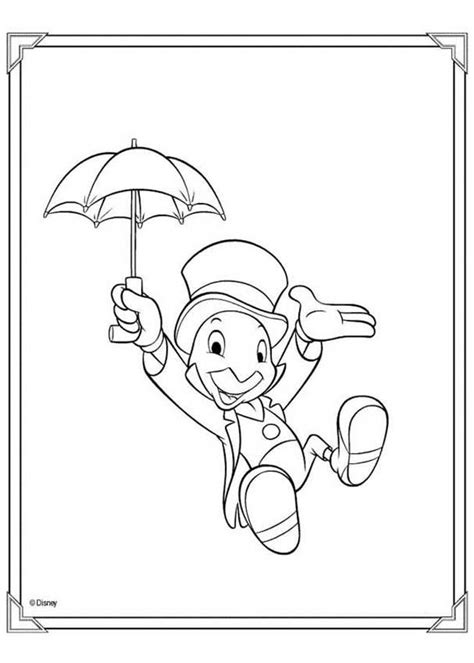 jiminy cricket coloring pages hellokids com