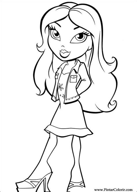bratz rock star coloring pages