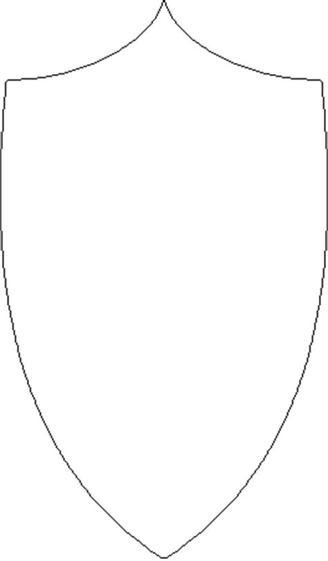 shield outline template outline of shield