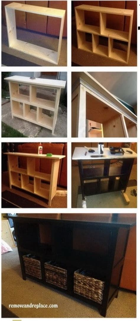 behind the couch storage sofa table with storage diy home everydayentropy com