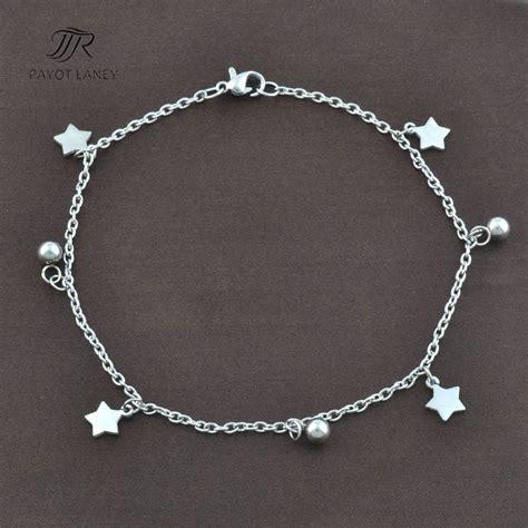 stainless steel anklet bracelet on foot ankle bracelet