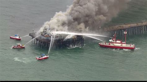 fireboat liberty lbfd fireboat liberty knocks down seal beach pier fire