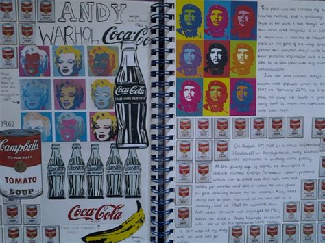 andy warhol research paper andy warhol a students replica artist research sketch