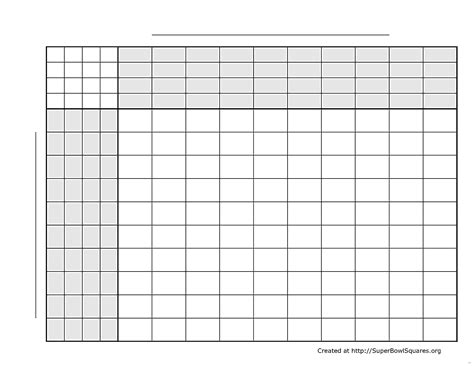 Bowl Squares Template Excel by Bowl Squares Template Excel Football Sets Delux