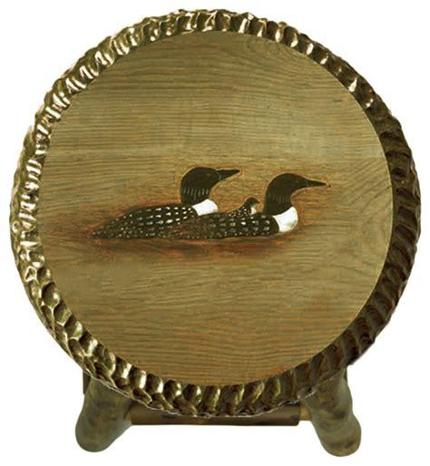 Handmade Wooden Bar Stools - shop houzz zeckos rustic handcrafted wooden carved loon