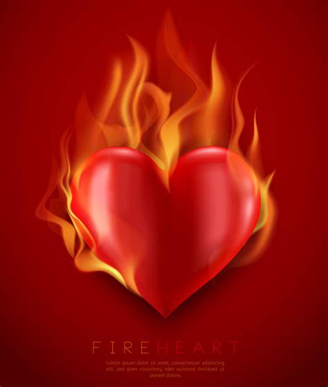 vector flaming heart illustration   vector