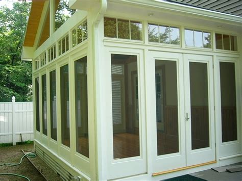 Three Season Porch and Padio Traditional Sunroom south east by Maine Carpenter