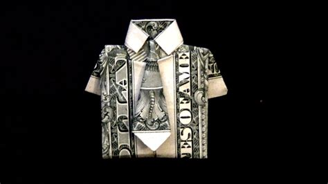 Dollar Bill Origami Shirt With Tie - dollar origami shirt tie tutorial how to fold a dollar