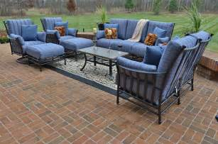 Patio Seating Amia 8 Luxury Cast Aluminum Patio Furniture