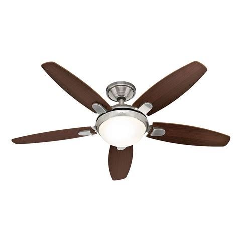 hunter contempo 54 ceiling fan hunter contempo 52 in brushed nickel ceiling fan with
