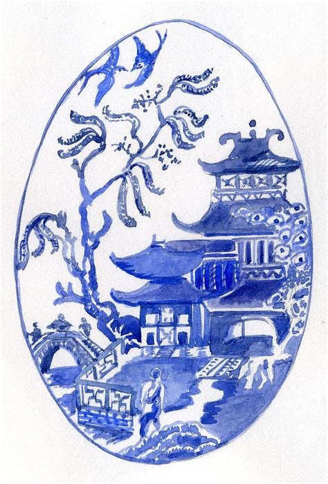 willow pattern artist willow pattern egg i painting by wendy le ber