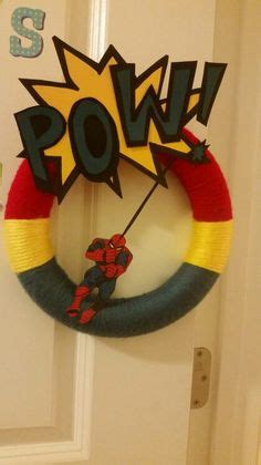 gmail themes superhero superman wreath made with felt and yarn great for a boy s