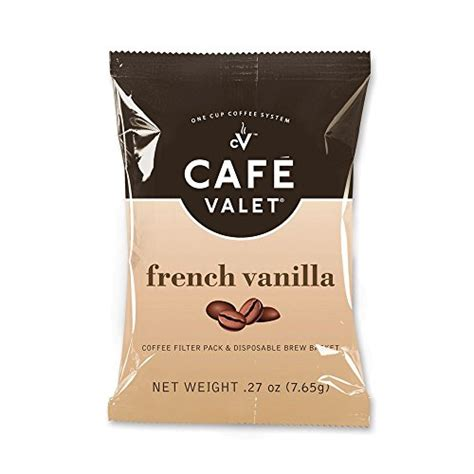 Cafe Valet Coffee for Cafe Valet Single Serve Brewers, French Vanilla, 84 Count   Coffee By Flavors