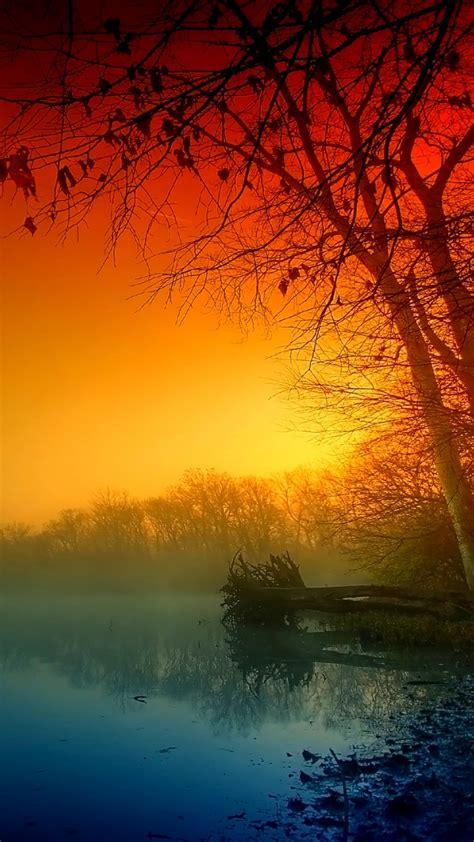 wallpaper mystic river dawn  nature