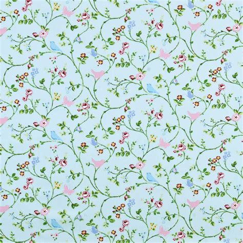 curtain fabric with bird print bird trail curtain fabric seafoam printed fabric in pink