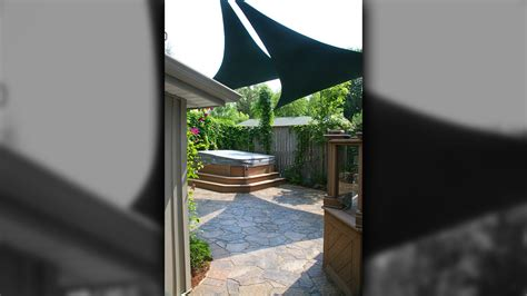sail tent awning portfolio slide show of awnings sails canopies artistic landscaping inc waterloo