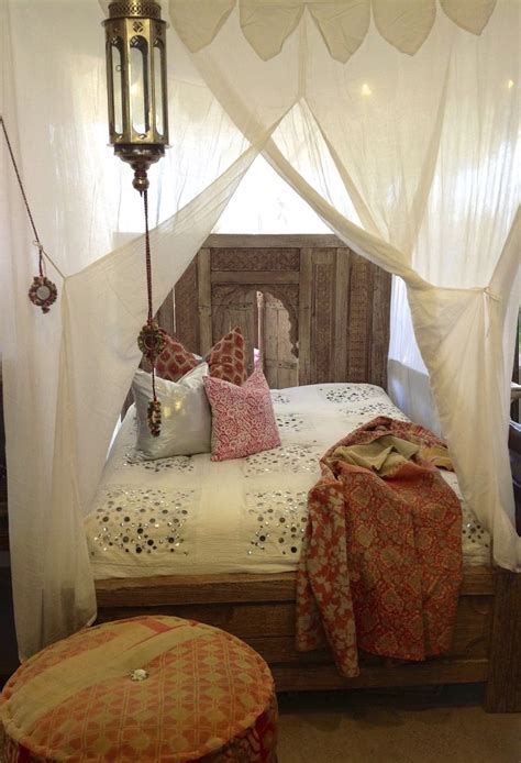 Boho Bed Canopy Canopy Bed Moroccan Lantern Architecture Interior Home House Design Bedroom Bohemian