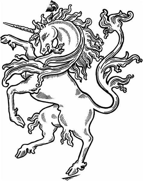 Coloring Pages Magic Unicorn Coloring Page Contemplative A Coloring Book