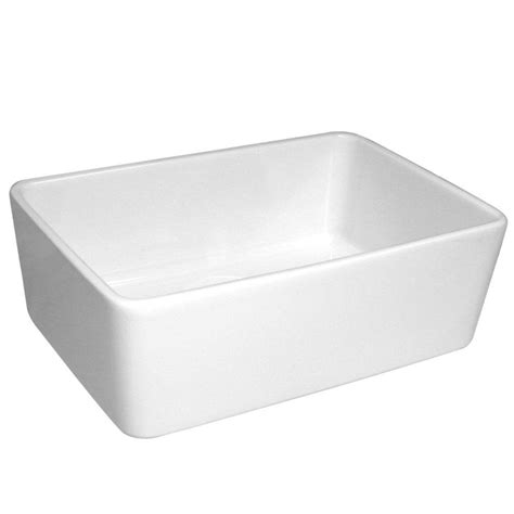 Whitehaus Kitchen Sinks Whitehaus Collection Basichaus Farmhaus Apron Front Fireclay 24 In Single Bowl Kitchen Sink In