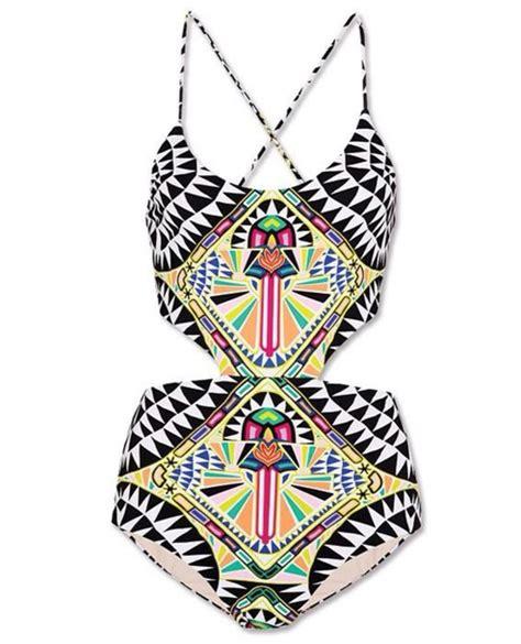 tribal pattern bathing suit swimwear tribal monokini patterned swimwear wheretoget