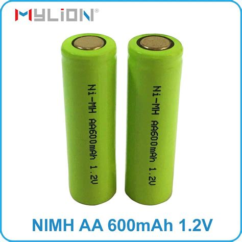 aa 1 2 v 600mah nimh rechargeable solar light batteries rechargeable nimh 1 2v 600mah aa battery mylion china