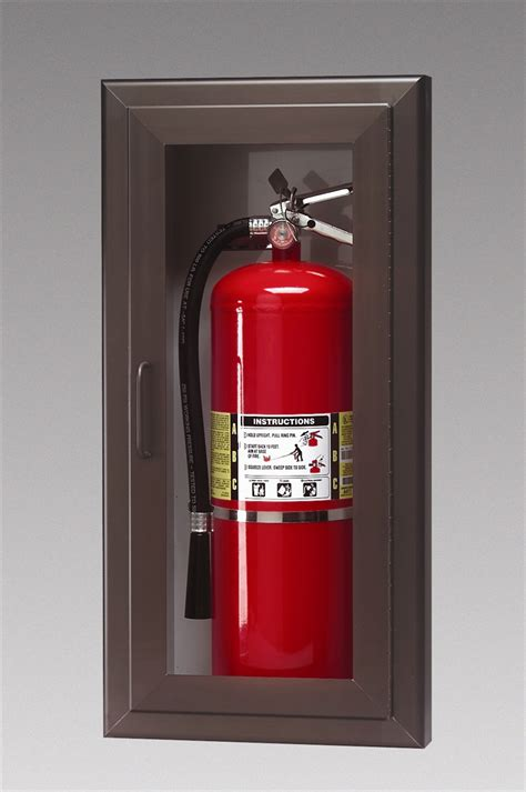 semi recessed fire extinguisher cabinet triangle fire inc fire extinguisher cabinets larsen s