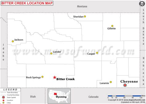 us map showing wyoming where is bitter creek wyoming