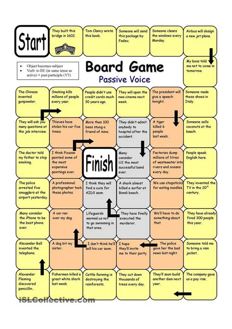 printable reading games for adults board game passive voice worksheet free esl printable
