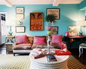 Bohemian Living Room Furniture Interior Of Living Room In A Bohemian Style Home Interior Design Kitchen And Bathroom Designs