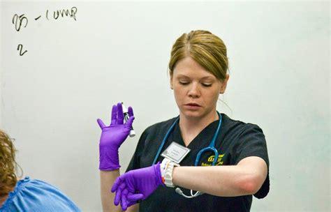 Background Check For Nursing Students Wsu Nursing Student Wilson Checks During A Simulated Cardiac Arrest