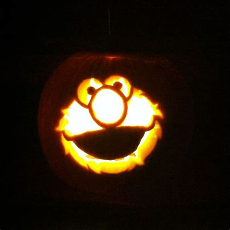 elmo pumpkin carving for brady or the next babe or the