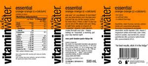 Vitamin Water Sheet Template by Vitamin Water Kl