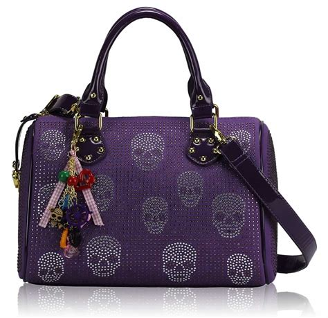 Handbag Skull blue handbags purple skull handbags