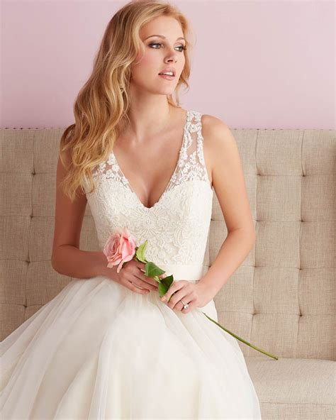Wedding Hair For V Neck Dress by Bridals Style 2716