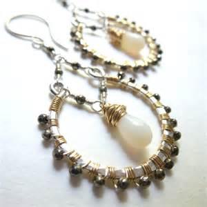 handmade chandelier earrings handmade chandelier earrings wire wrapped hoops by