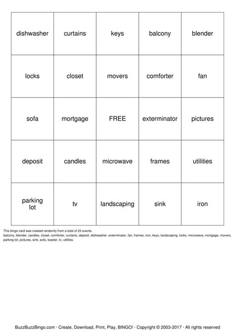 printable housewarming bingo cards lysa house warming bingo cards to download print and
