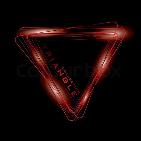 Triangel Neon by Bright Colored Neon Triangle Symbol Or Icon Vector