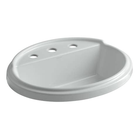 Bathroom Sink Colors Available Kohler K 2992 8 0 Tresham Oval Shaped Self