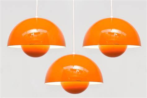 Panton Flowerpot by 3 X Flowerpot Orange Verner Panton Modestfurniture