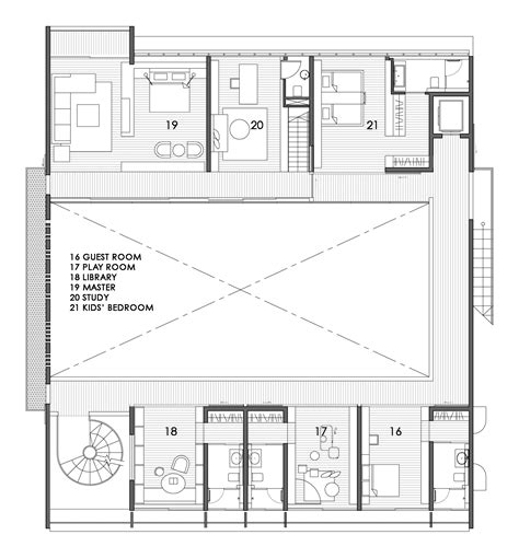 Two Story Courtyard House Plan 6382hd Architectural Gallery Of The Courtyard House Formwerkz Architects 13
