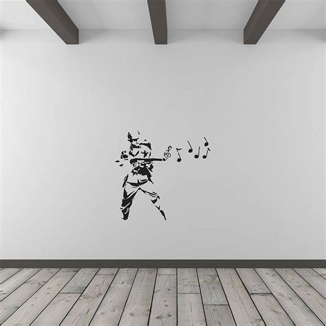 banksy musical soldier vinyl wall art decal  vinyl