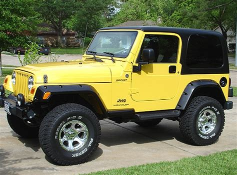 old yellow jeep 2005 jeep wrangler sport jeep colors