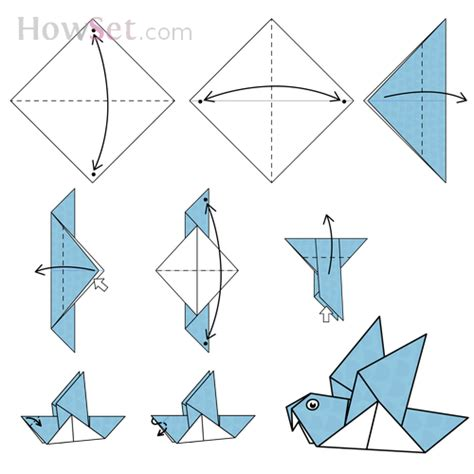 How To Fold A Bird Out Of Paper -