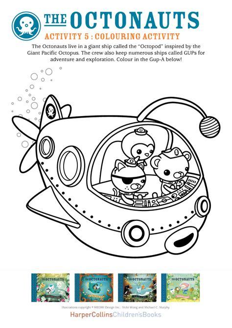 Octonauts Colouring Scholastic Kids Club Printable Octonauts Coloring Pages