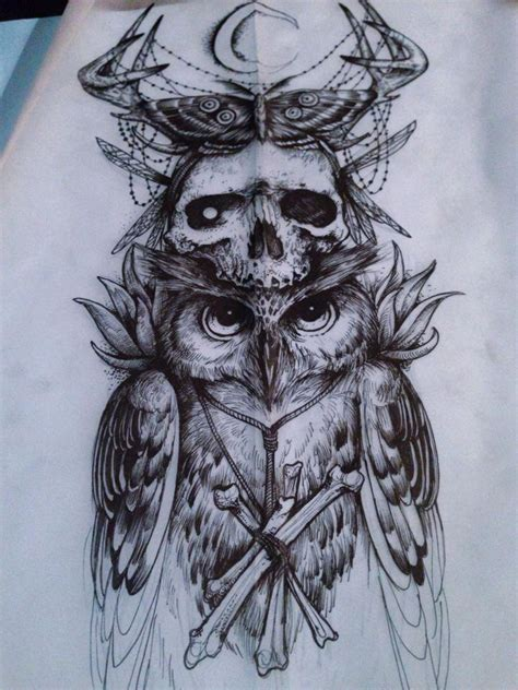 owl tattoo totem tattoos dark tattoo owl macabre arm tattoo tattoo art