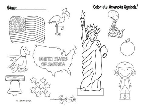 Free Coloring Pages For Kids Printable Coloring Pages American Symbols Coloring Pages