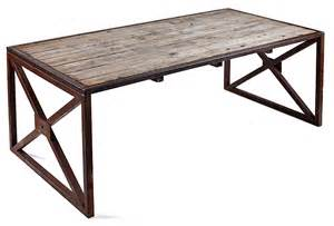 wood table desk industrial reclaimed wood table or desk italy omero home