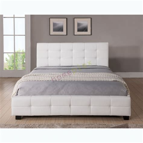 queen size white bed queen size upholstered white pu leather bed frame tommy
