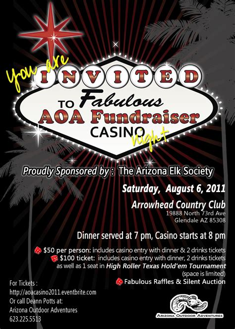 Arizona Outdoor Adventures Casino Night Fundraiser Conservation Group Events Coueswhitetail Casino Fundraiser Flyer Template